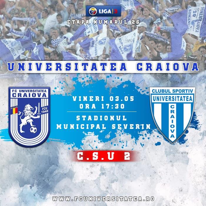 LIVE FC Universitatea - CSU2